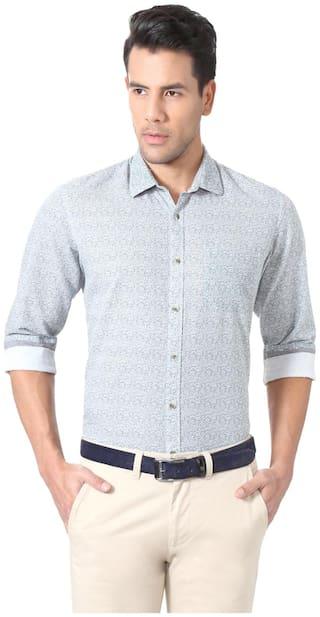 Peter England Men Slim fit Formal Shirt - Grey
