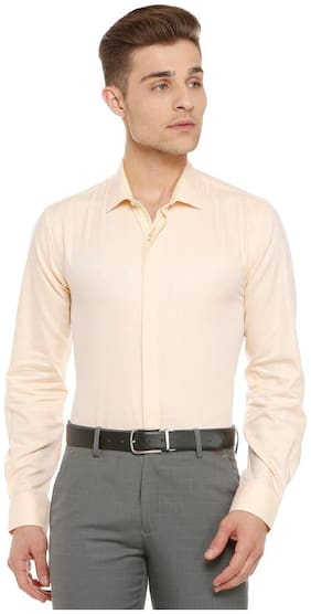Peter England Men Slim Fit Formal Shirt - Pink