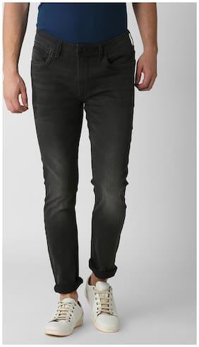 Peter England Men Mid rise Skinny fit Jeans - Black