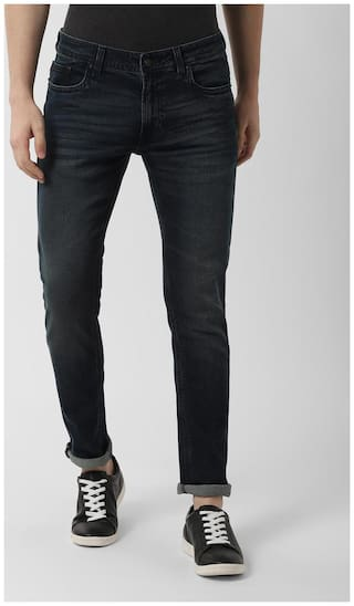 Peter England Men Mid rise Tapered fit Jeans - Blue