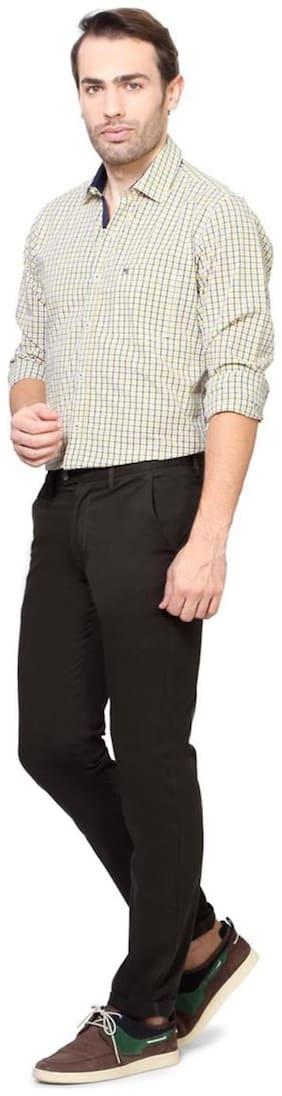 Men Slim Fit Regular Trousers