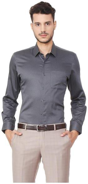 Men Super Slim Fit Printed Formal Shirt