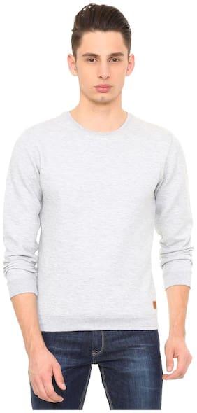 Peter England Greyish Blue Sweatshirt