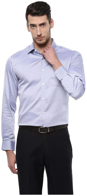Men Slim Fit Weaved Formal Shirt