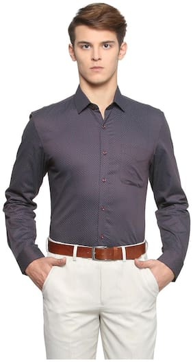 Men Super Slim Fit Printed Formal Shirt