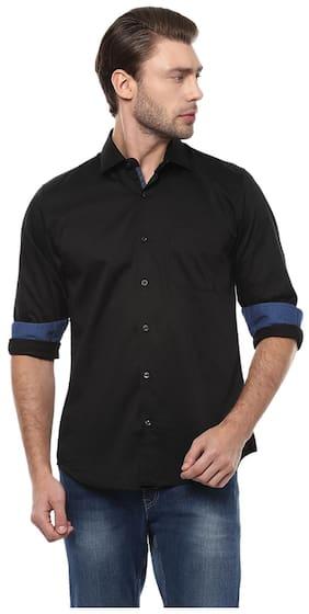 28c9c1815b2 Peter England Men Slim Fit Casual shirt - Black