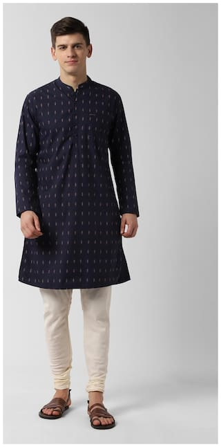 Peter England Men Blue Slim Fit Kurta