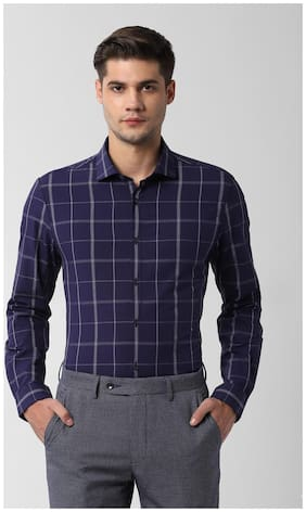 Men Super Slim Fit Checked Formal Shirt ,Pack Of Pack Of 1