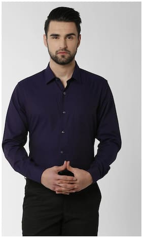 Men Regular Fit Solid Formal Shirt