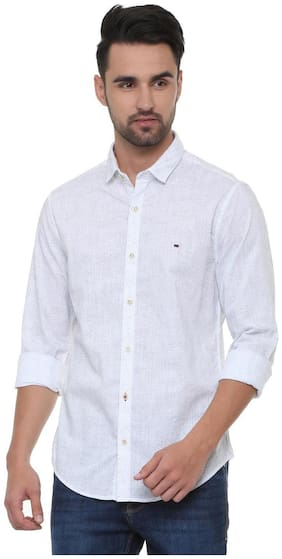 Peter England Men Super slim fit Casual shirt - White