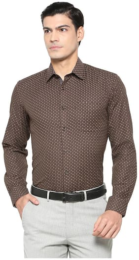 Peter England Brown Shirt