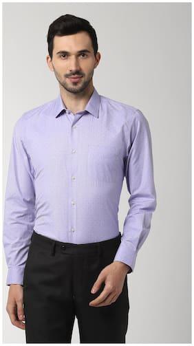 Peter England Men Slim fit Formal Shirt - Purple