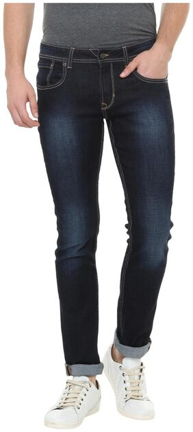 Peter England Men Mid Rise Skinny Fit ( Low Skinny Fit ) Jeans - Blue