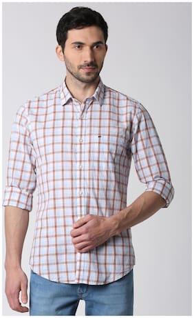Peter England Men Slim Fit Casual shirt - White