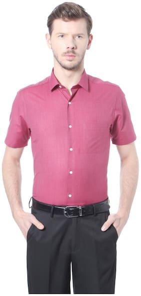 Peter England Men Slim Fit Formal Shirt - Pink