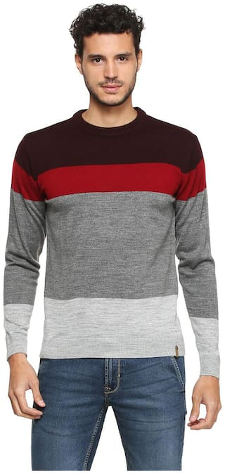 Peter England Men Acrylic Sweater - Multi