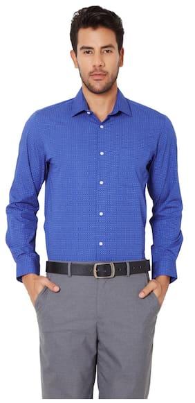 Peter England Men Slim Fit Formal Shirt - Blue