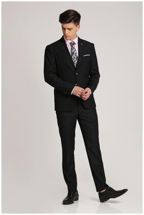 Peter England Black Two Piece Suit