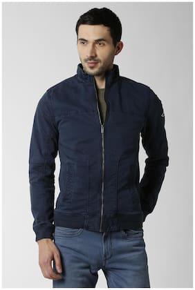 Men Cotton Blend Long Sleeves Jacket