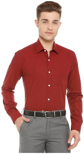 Peter England Red Shirt