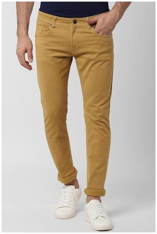 Peter England Men Yellow Skinny Fit Jeans