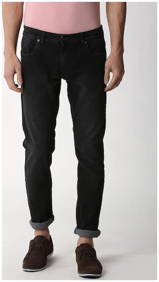 Peter England Men Black Skinny Fit Jeans