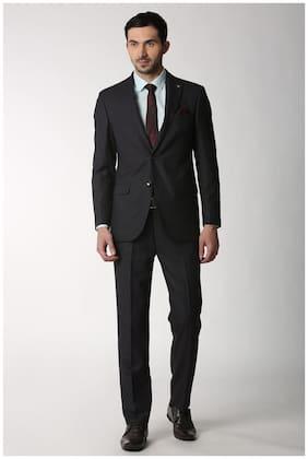 Peter England Men Blended Slim fit Suit - Black