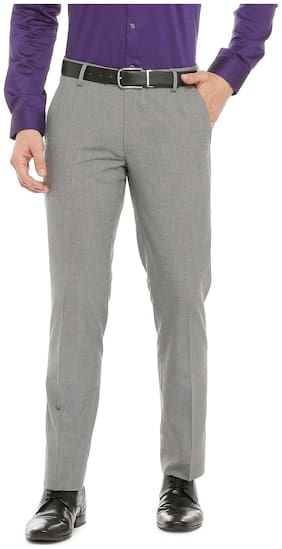 Peter England Grey Trousers