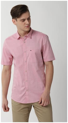 Peter England Men Super slim fit Casual shirt - Pink