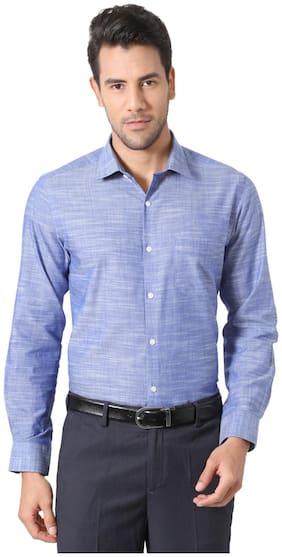 Peter England Cotton Comfort Blue Formal Shirts