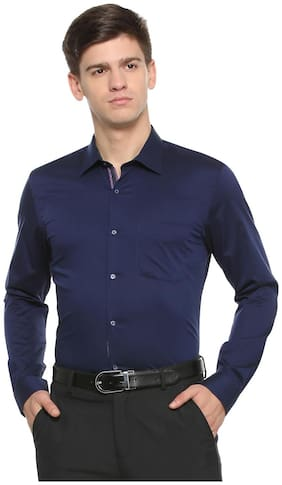 Peter England Men Regular Fit Formal Shirt - Blue
