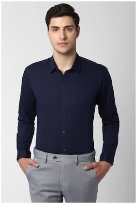 Men Slim Fit Self Design Formal Shirt