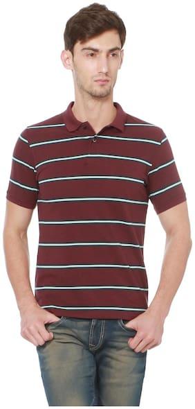 Peter England Maroon T Shirt
