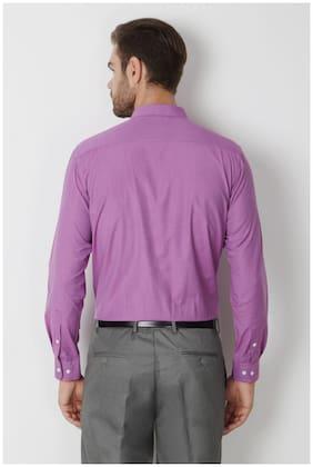Peter England Men Regular Fit Formal Shirt - Purple