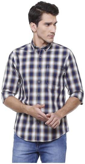 Peter England Men Slim fit Casual shirt - Blue