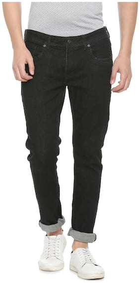 Peter England Men Mid rise Skinny fit Jeans - Black