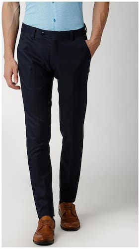 Peter England Navy Formal Trousers