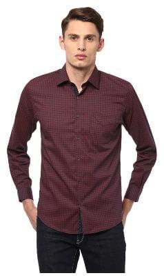 Peter England Men Slim fit Casual shirt - Red