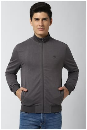 Men Poly Cotton Long Sleeves Bomber Jacket