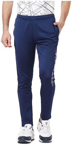 Peter England Polyester Blue Trackpants