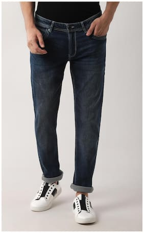 Peter England Men Mid rise Slim fit Jeans - Navy blue