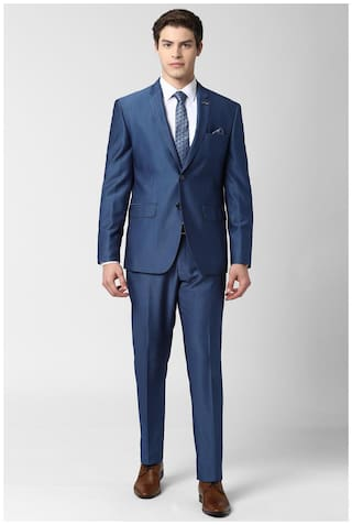 Peter England Blue Two Piece Suit