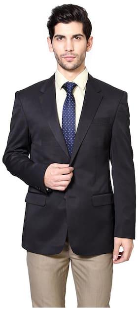 Peter England Men Polyester Slim fit Blazer - Grey