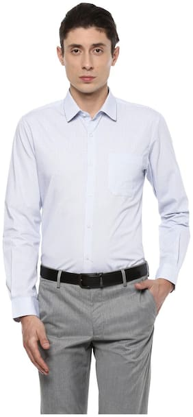 Peter England Men Slim fit Formal Shirt - White