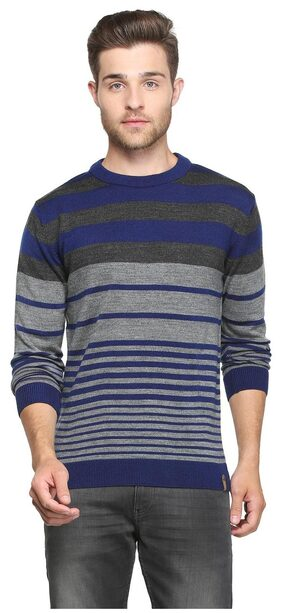 Peter England Men Acrylic Sweater - Blue