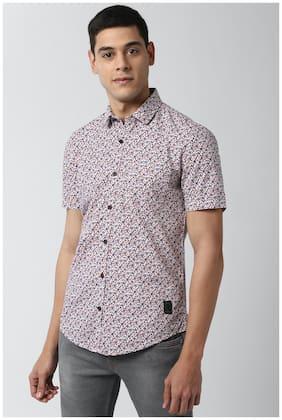 Men Super Slim Fit Printed Casual Shirt