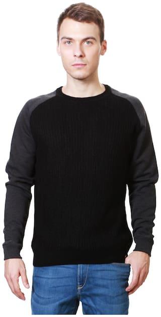Peter England Men Black Round neck Pullover