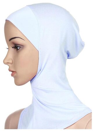 Phenovo Muslim Full Cover Hijab Cap Islamic Underscarf Graceful Neck Head Hat White