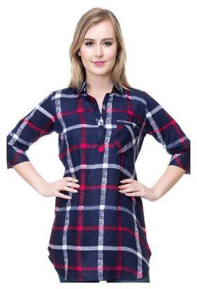 PHONIC Women Rayon Printed - Regular Tunic Multi