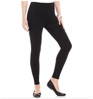 Pietra Black ankle length legging (Pack of 3)